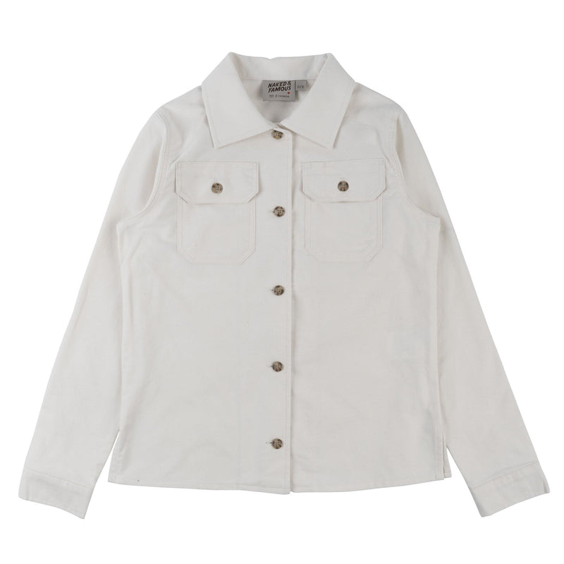 Women's Utility Shirt - Soft Flannel - Ivory - front