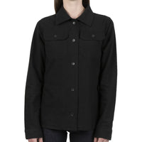 Women's Utility Shirt - Soft Flannel - Black - front