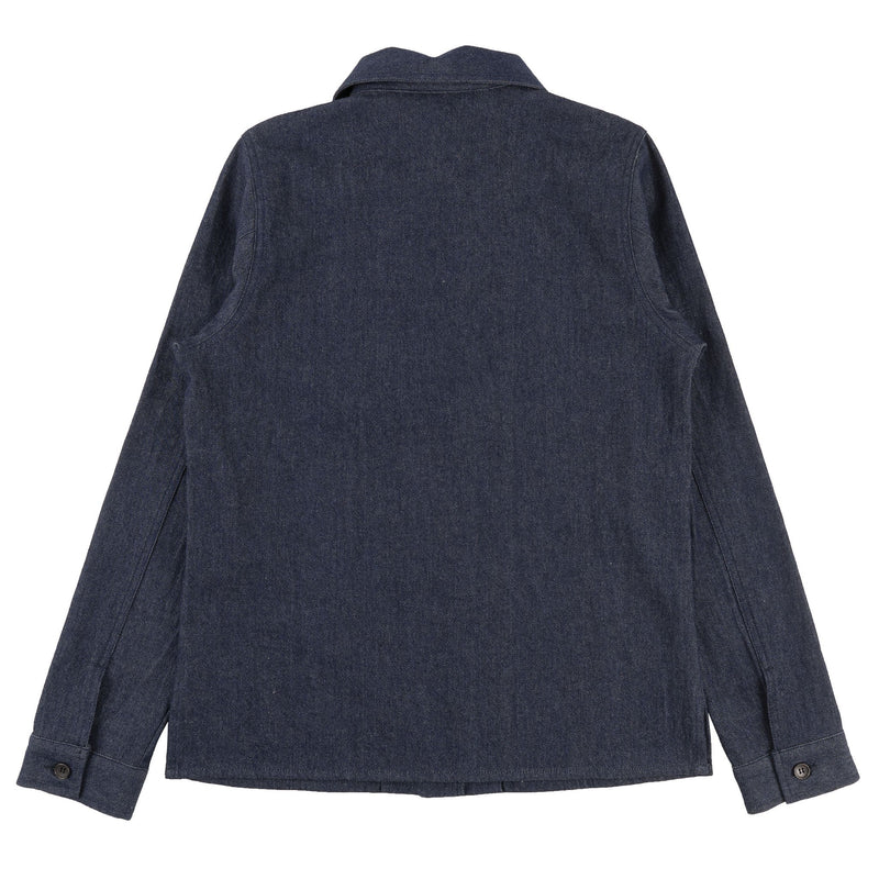 Women's Utility Shirt - 7oz Rinsed Denim - back