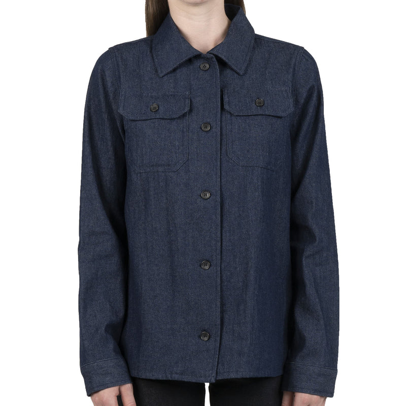 Women's Utility Shirt - 7oz Rinsed Denim - front