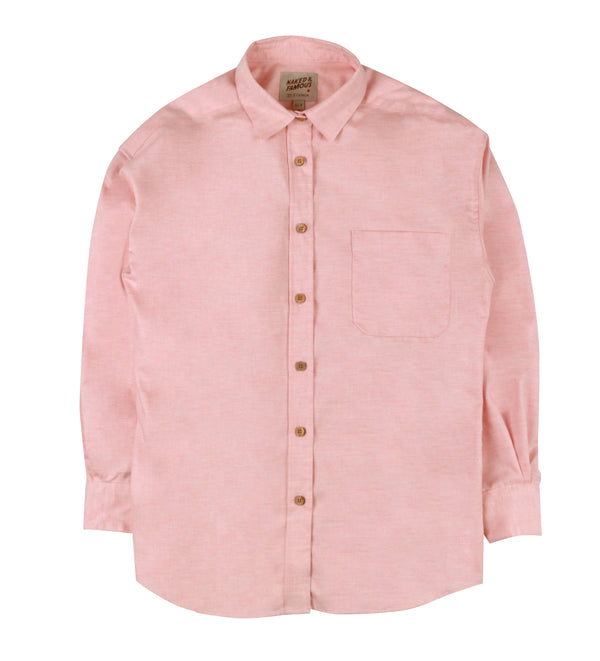 Women's - Easy Shirt - Flower Dyed Oxford - Rose