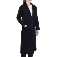Women's Duster Coat - Indigo x Black Stretch Denim - side