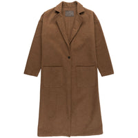 Women's Duster Coat - Cotton Melton - Rust - front
