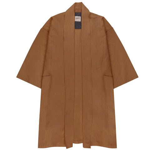 Women's - Overcoat - Rinsed Oxford - Camel