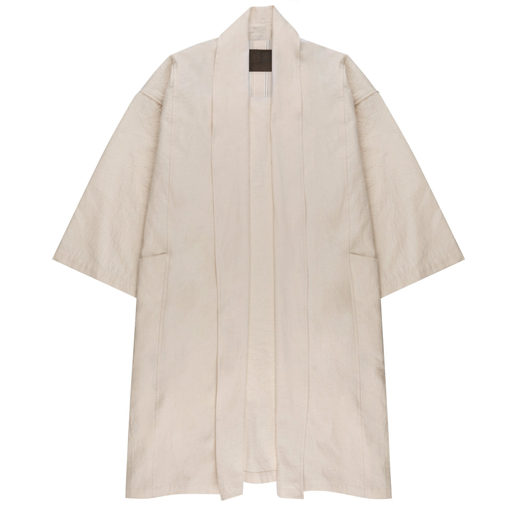Women's - Overcoat - Rinsed Oxford - Off White | Naked & Famous Denim