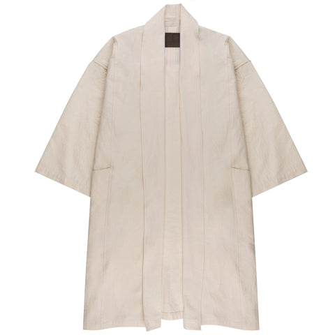 Women's - Overcoat - Rinsed Oxford - Off White