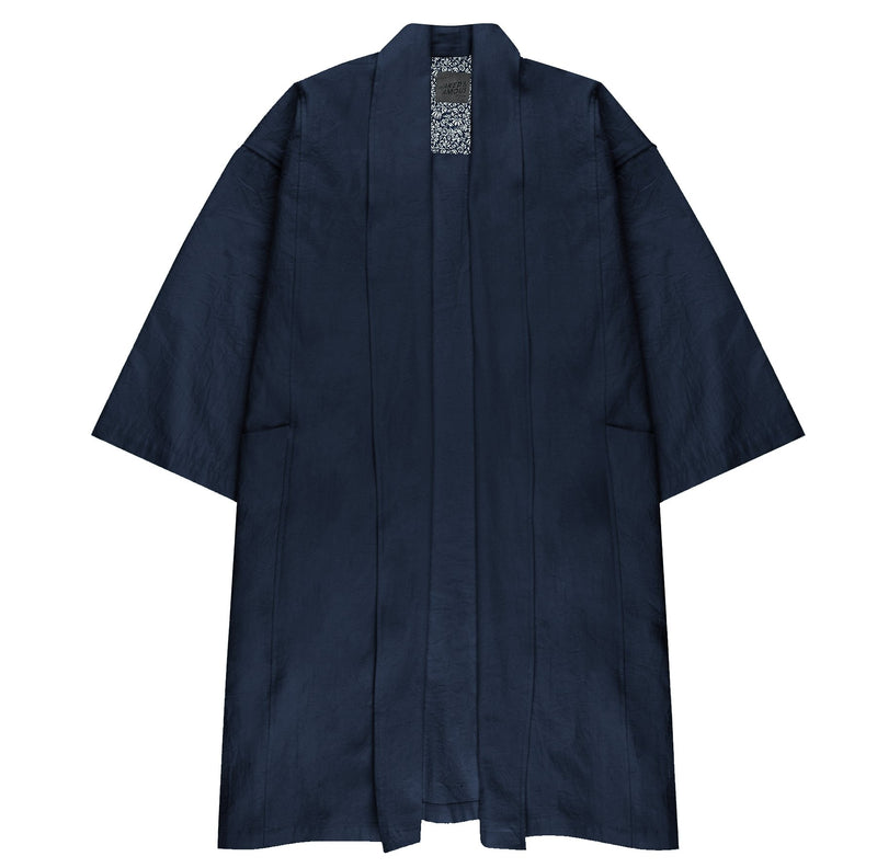 Overcoat - Cotton / Linen Canvas - Navy - FRONT