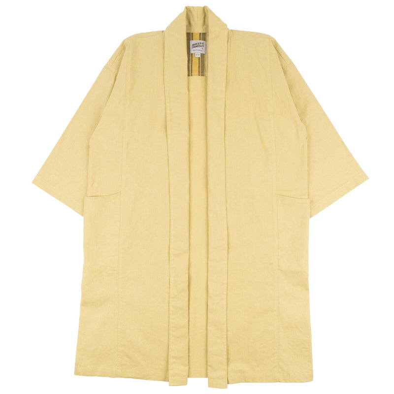 Overcoat - Cotton Linen Canvas - Yellow - front