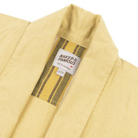 Overcoat - Cotton Linen Canvas - Yellow - collar