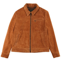 Unlined Rough Out Cowhide Jacket - front