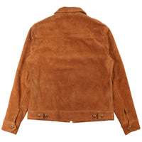 Unlined Rough Out Cowhide Jacket - BACK