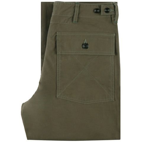 425-51 - Back Satin Fatigue Pants - Olive