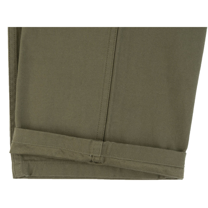 4255115O - Back Satin Fatigue Pants - Light Olive
