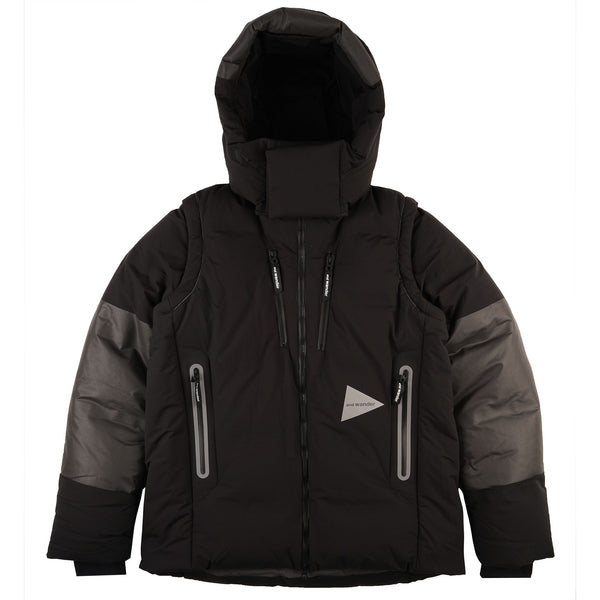 And Wander - Heather Rip Down Jacket - Black - Main