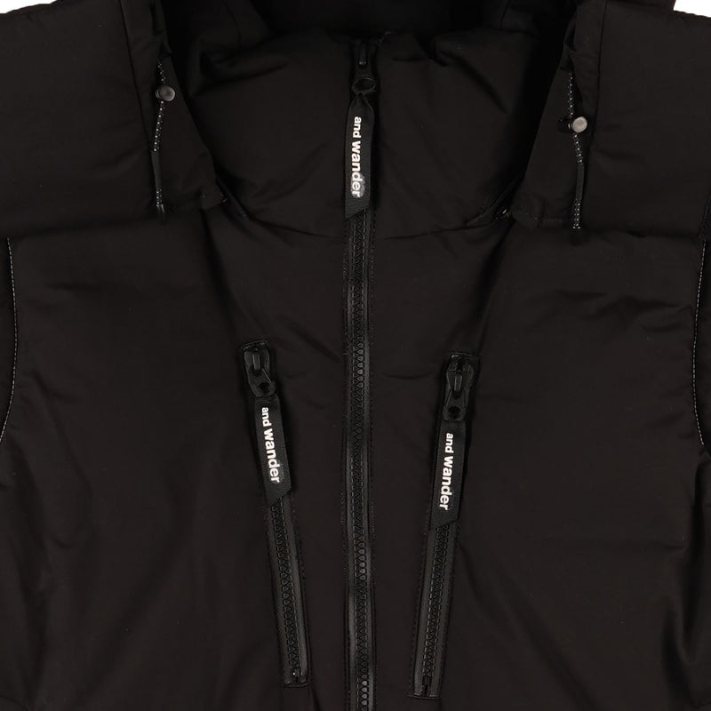 And Wander - Heather Rip Down Jacket - Black - Zipper