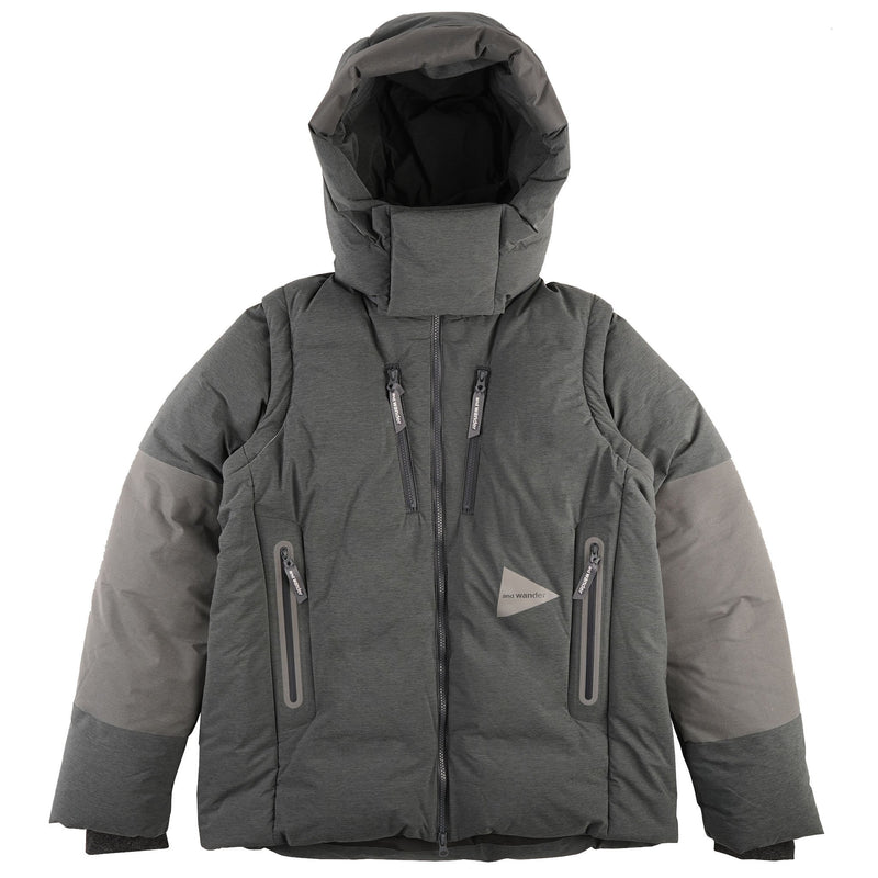 Heather Rip Down Jacket - Grey - front