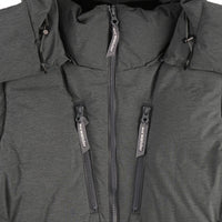 Heather Rip Down Jacket - Grey - zipper
