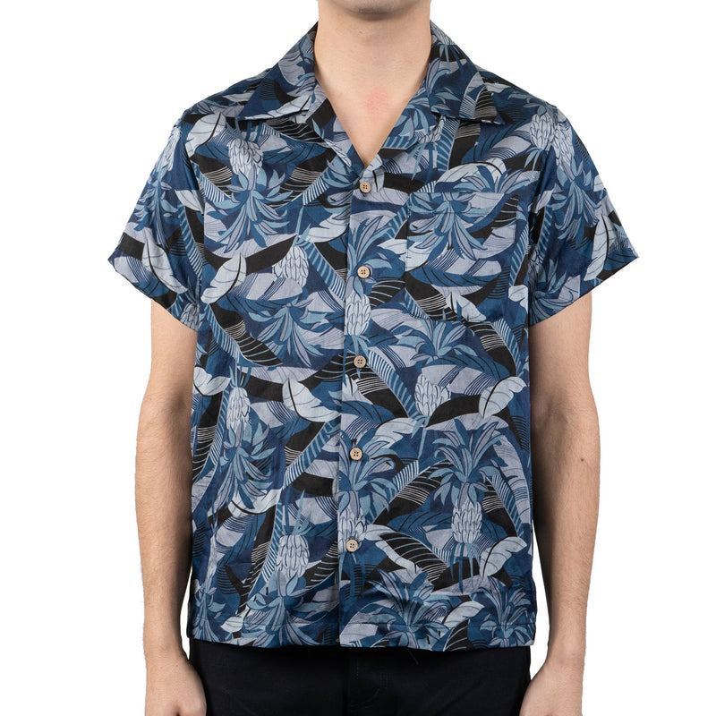 Aloha Shirt - Jungle Vacation - Blue - front shot