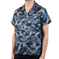 Aloha Shirt - Jungle Vacation - Blue - side shot