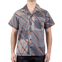 Aloha Shirt - Retro Wave - Navy / Purple / Pink - front shot