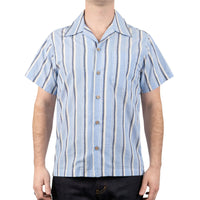 Aloha Shirt - Cambric stripes - Pale Blue - front shot