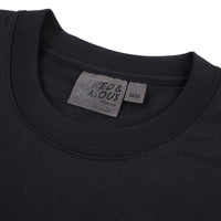 Pocket Tee - Black + Slub Cranes Black - Collar