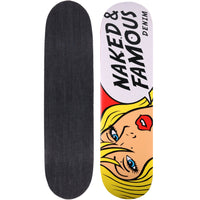 Naked & Famous Denim Skateboard Deck - Tragic Blond - 13.5oz Indigo Denim