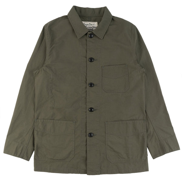 Burgus Plus - French Work Coverall - Olive - FRONT