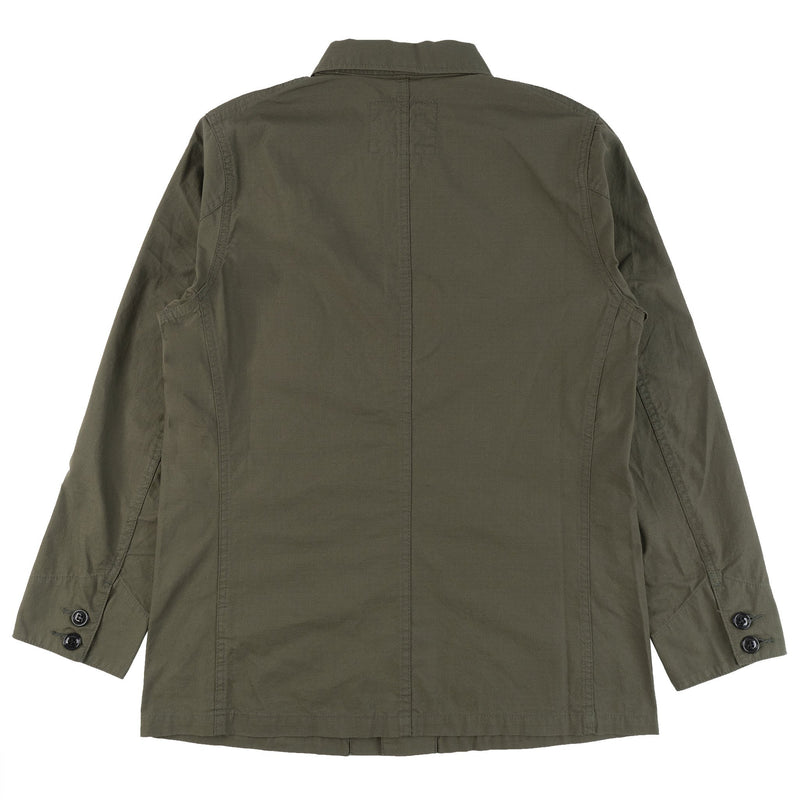 Burgus Plus - French Work Coverall - Olive - BACK
