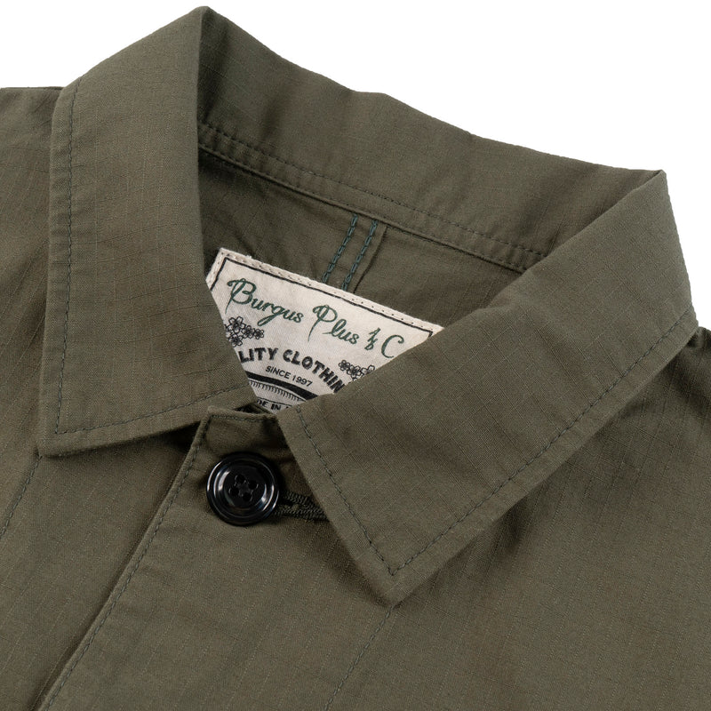 Burgus Plus - French Work Coverall - Olive - COLLAR