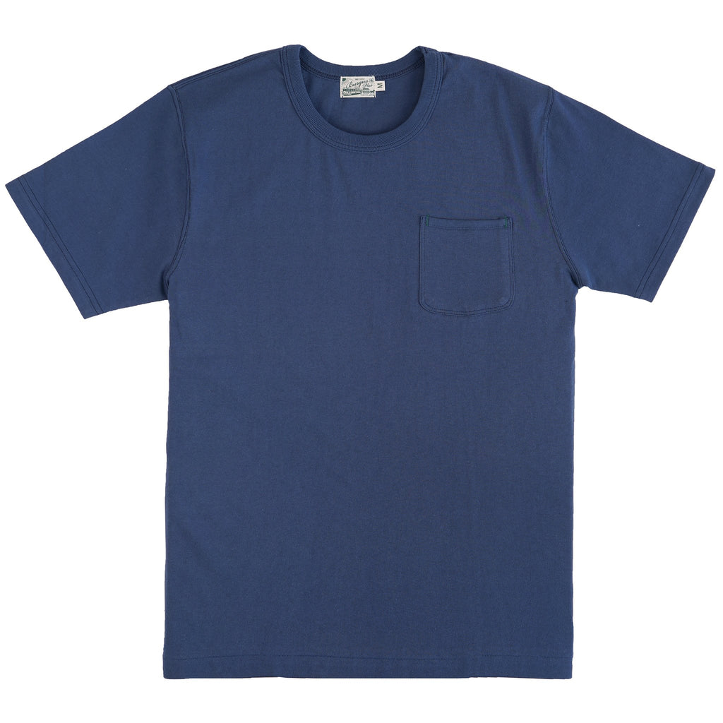 HBP-001-BL- Short Sleeve Pocket Tee - Blue