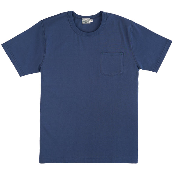 HBP001BL- Short Sleeve Pocket Tee - Blue