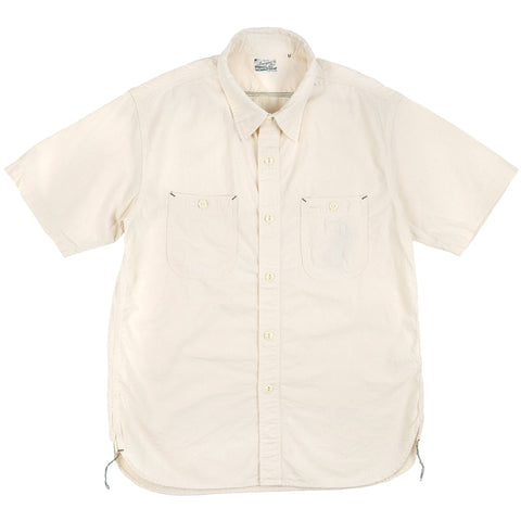 HBP300CHN - Short Sleeve Chambray Work Shirt - Natural