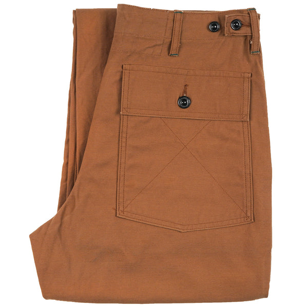 4255110B - Back Satin Fatigue Pants - Brown