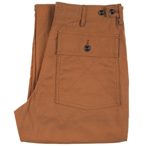 425-51-10B - Back Satin Fatigue Pants - Brown