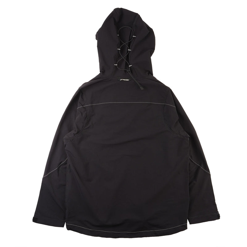 AndWander Nylon Double Cloth Hoodie - Black - back