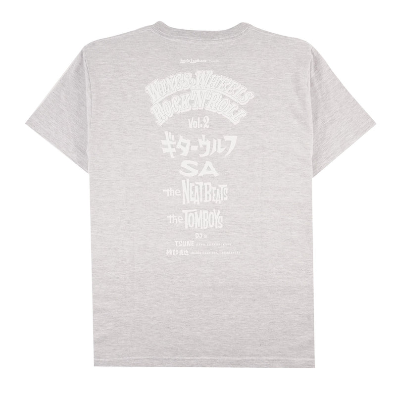 Wings, Wheels and Rock n Roll T-shirt - Grey - back