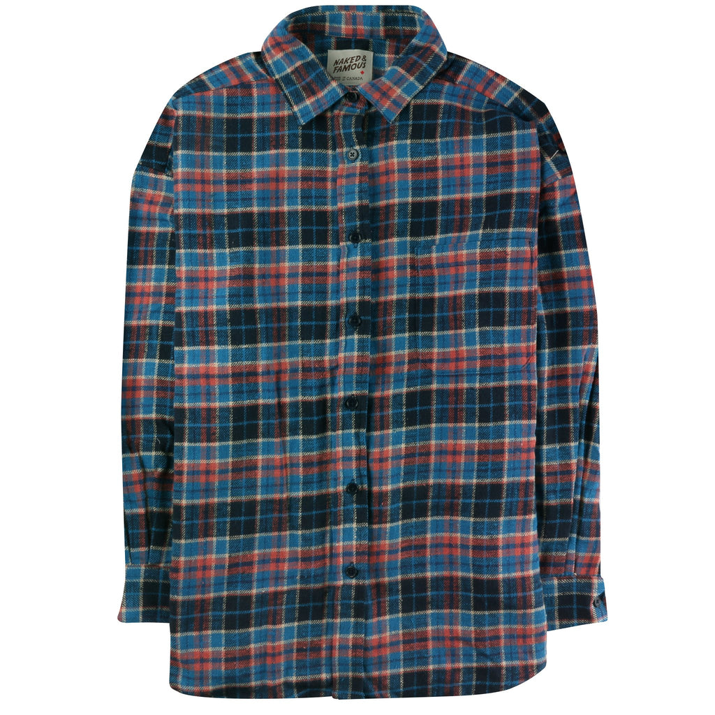 Women's - Easy Shirt - Rustic Nep Flannel - Navy/Blue
