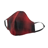 Protection Face Mask - Shadow Check Red/Black - 1