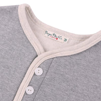 Long Sleeve Henley Neck Sweat Tee by Burgus Plus