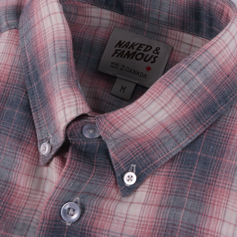 Easy Shirt - Double Plaid Cloth - Grey/Pink