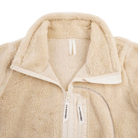 AndWander High Loft Fleece Jacket - Off-White