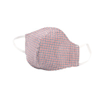 Protection Face Mask - Gingham Check Red/Navy/White