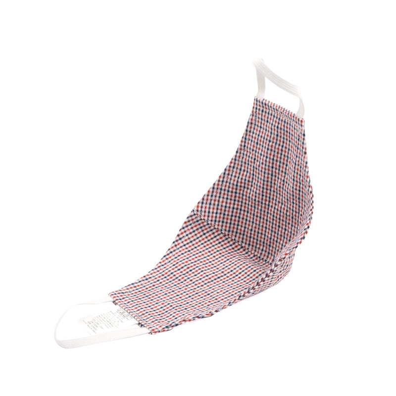 Protection Face Mask - Gingham Check Red/Navy/White - alt