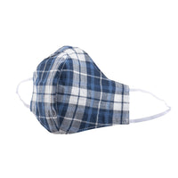 Protection Face Mask - Dobby Plaid Blue/White - 1