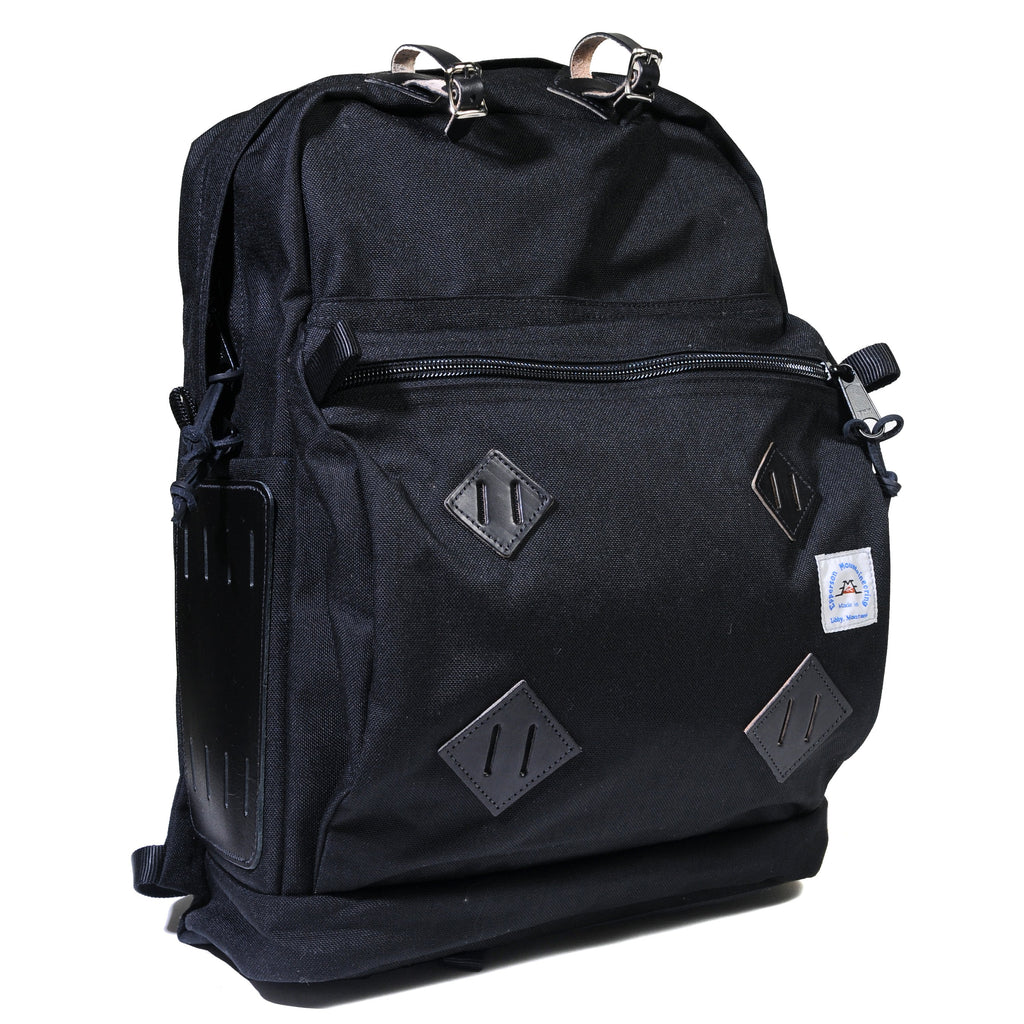 Day Pack - Raven with Black Leather Patch