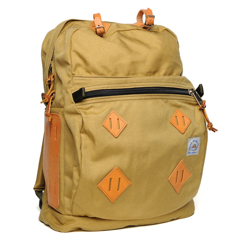 Day Pack - Sandstone with Black Leather Patch