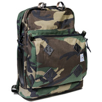 Day Pack - Mil-Spec Woodland Camo with Natural Leather Patch
