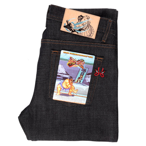 Street Fighter 2 x Naked & Famous Denim E Honda Heavyweight Sumo Selvedge