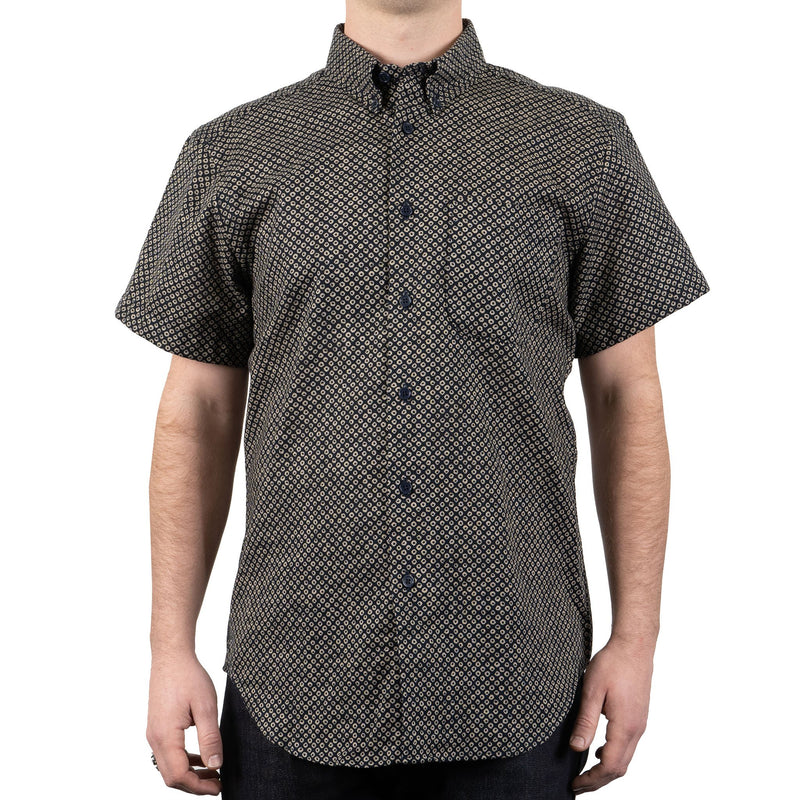 Short Sleeve Easy Shirt - Kimono Scales - front shot